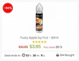 80% off nicotine e-liquids