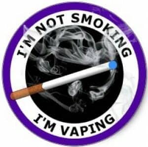 Vaping Not smoking