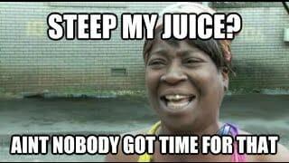 Quick E Juice steeping Methods