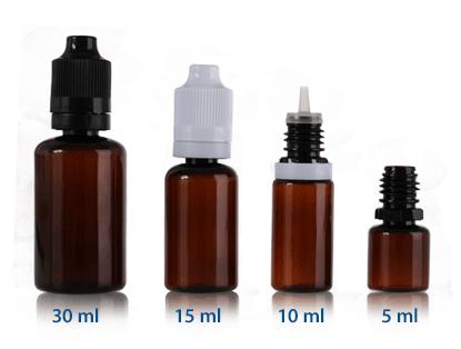 Tinted E-Liquid Bottles
