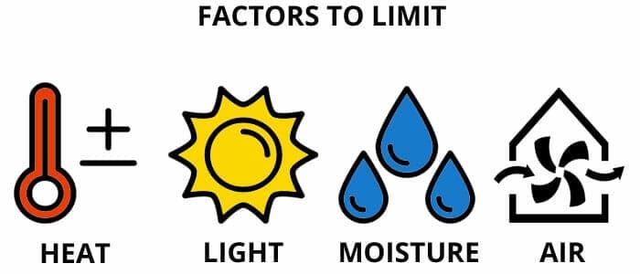 Storing e-juice - Factors to limit