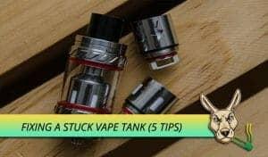 Solutions for a stuck vape tank