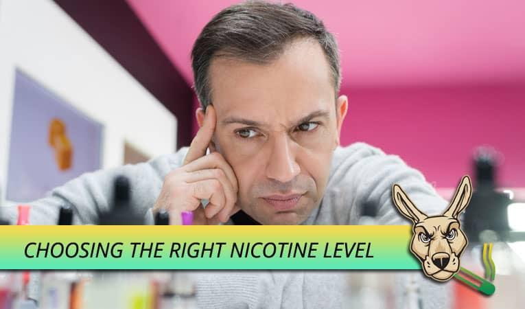 Choose the correct nicotine strength