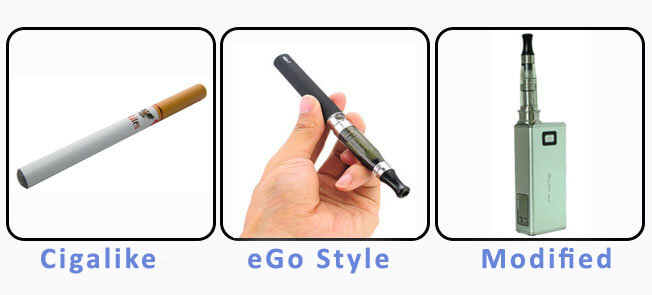 Choose your style of e cigarette