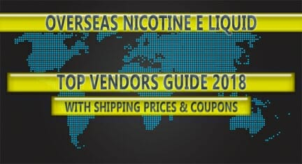 Australia's Top Nicotine E-Liquid Vendor Guide (Updated 2018)